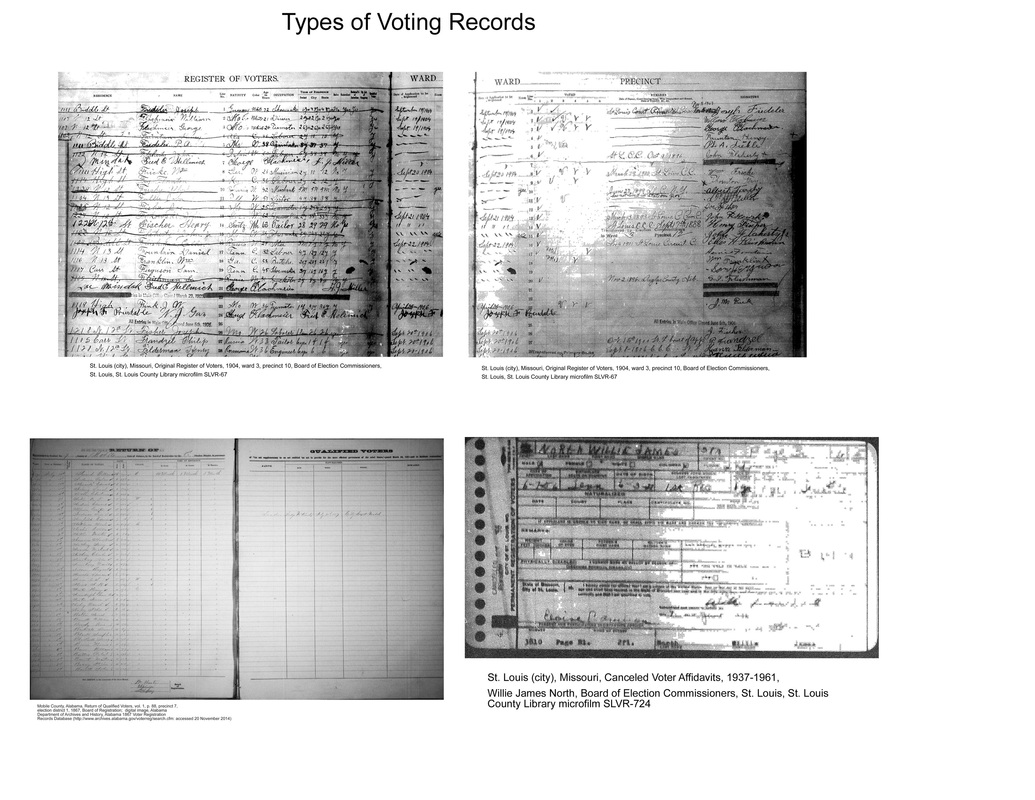 All categories finding african american ancestors also in st louis canceled voter affidavits may show for example name of voter race address and date of birth bottom right image 1betcityfo Gallery